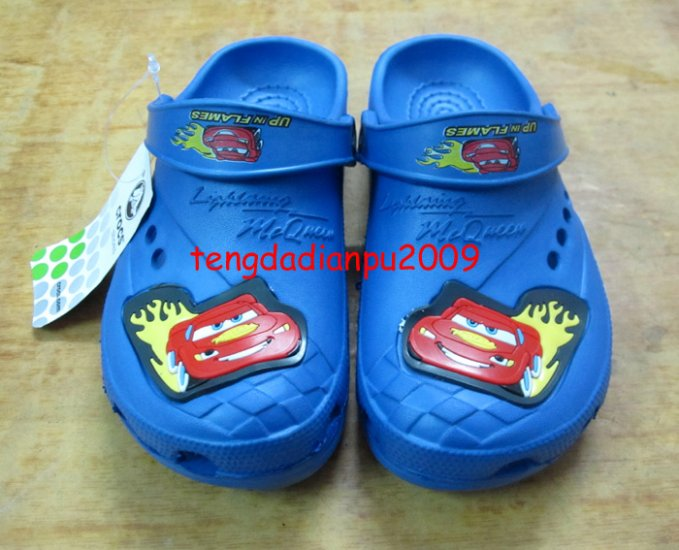 new CROCS� cars McQueen blue boy's sandal shoe sz:24 30