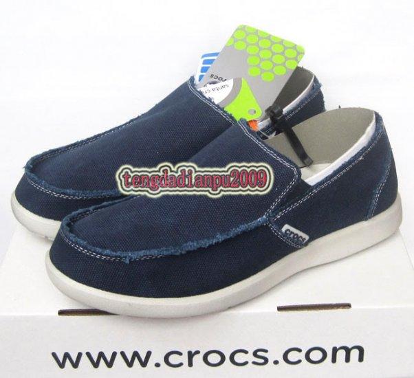 New CROCS� santa cruz dark blue men's shoes sz:M7-M11