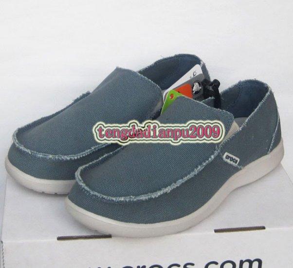 New CROCS� santa cruz light blue men's shoes sz:M7-M11