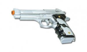 AK757 - Silver and Black 9mm Airsoft Beretta