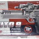 "12"" Electric Pistol w/ Laser, Scope and Blue LED Light"