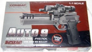 """12"""" Electric Pistol w/ Laser, Scope and Blue LED Light"""