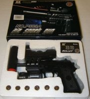 Airsoft gun w/ Laser, Bluelight and Silencer