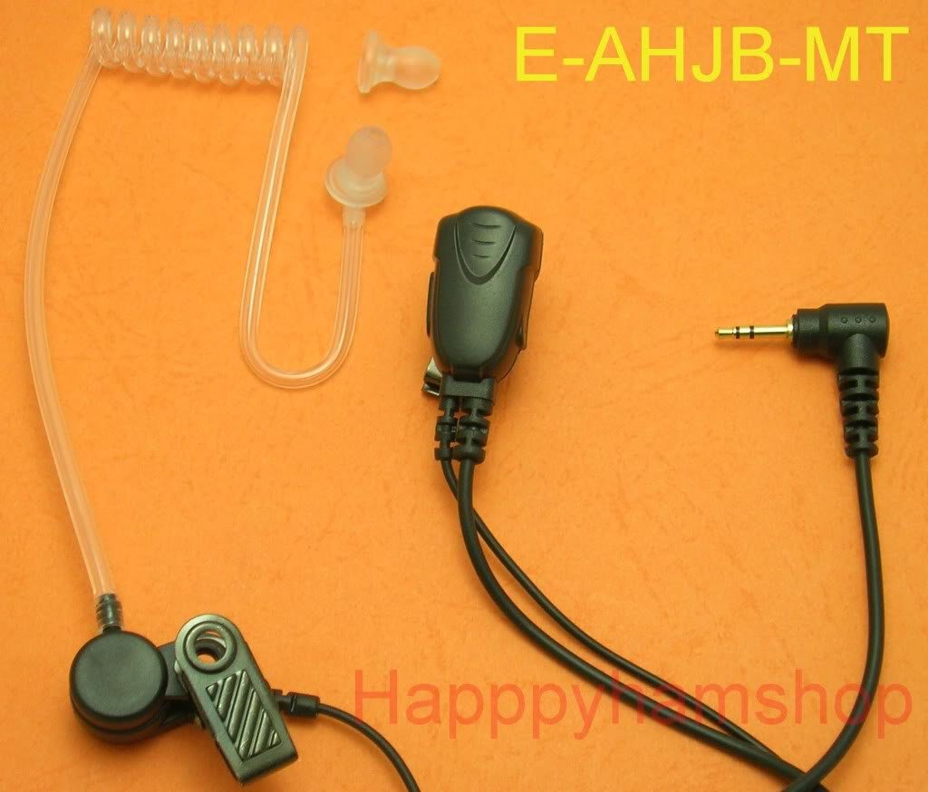 Covert tube Headset with mic for Motorola talkabout radio MR350R MR355R EM1000R