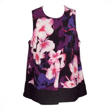Dressbarn 1X Floral Sleeveless Tank Top-New