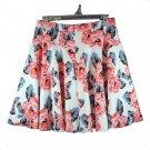 INC International Concepts Size 10 Floral Print Scuba A-Line Skirt