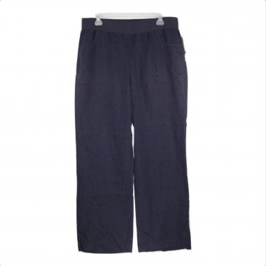 INC International Concepts 16W Navy Pull On Linen Wide Leg Pants-NWT ($69)
