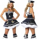 Free shipping Sexy Lingerie Black & White French Sailor Cosplay Halloween Costumes Dress Outfit