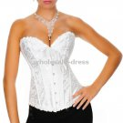 Free shipping Sexy wedding corset, lingerie wholesales, brocade bustier white