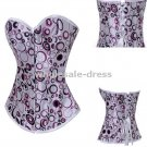 Free shipping sexy Brocade Gorgeous Corset Bustier Lingerie colorful