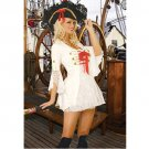 Free shipping Sexy White Pirate Costume Sexy underwear SIZE M