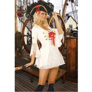 Free shipping Sexy White Pirate Costume Sexy underwear SIZE M