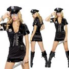 Free shipping Sexy Black Policewomen Costume Sexy underwear SIZE M