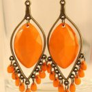 New Fashion Bohemian Style Yellow Drop Tassel Earrings Jewelry Ladies
