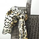 New Lady Fashion Alligator Pattern Scarf Embellished Handbag Bag Greyish-green