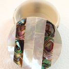 Mother of pearl jewelry box decorated with abalone shell