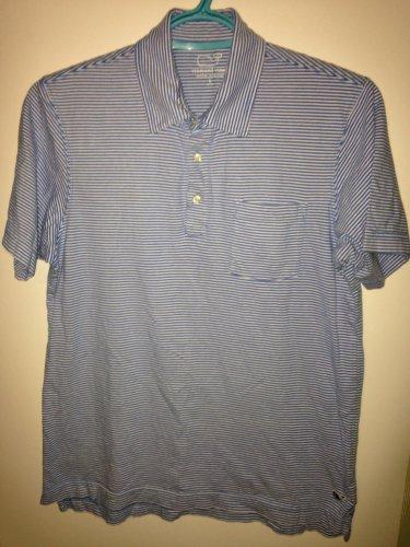 Vineyard Vines Boy's Youth Large 16-18 Striped Polo Shirt