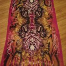 "Large 72 x 37"" Ed Hardy by Christian Audigier Scarf Skulls Swords Serpents"