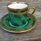 Gaudron Malachite Green by Christian Dior Demitasse Cup Saucer set Japan