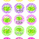Frogs Digital Bottlecap Images 1 Inch Circle
