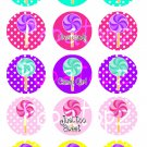 Candy Girl Digital Bottlecap Images 1 Inch Circle