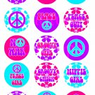 Peace Digital Bottlecap Images 1 Inch Circle