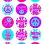 Peace Digital Bottlecap Images 1 Inch Circle
