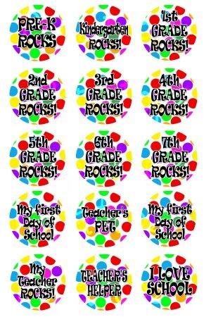 School Rocks Digital Bottlecap Images 1 Inch Circle