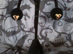 Pink Topaz Heart Earrings