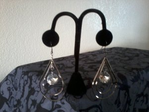 Tear Drop Earring With Crystals