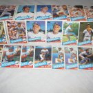 LOS ANGELES DODGERS 1985 TOPPS BASEBALL CARDS TEAM LOT FREE SHIPPING !!!