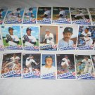 NEW YORK YANKEES 1985 TOPPS BASEBALL CARDS TEAM LOT FREE SHIPPING !!!