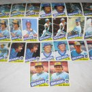 MILWAUKEE BREWERS 1985 TOPPS BASEBALL CARDS TEAM LOT  FREE SHIPPING !!!