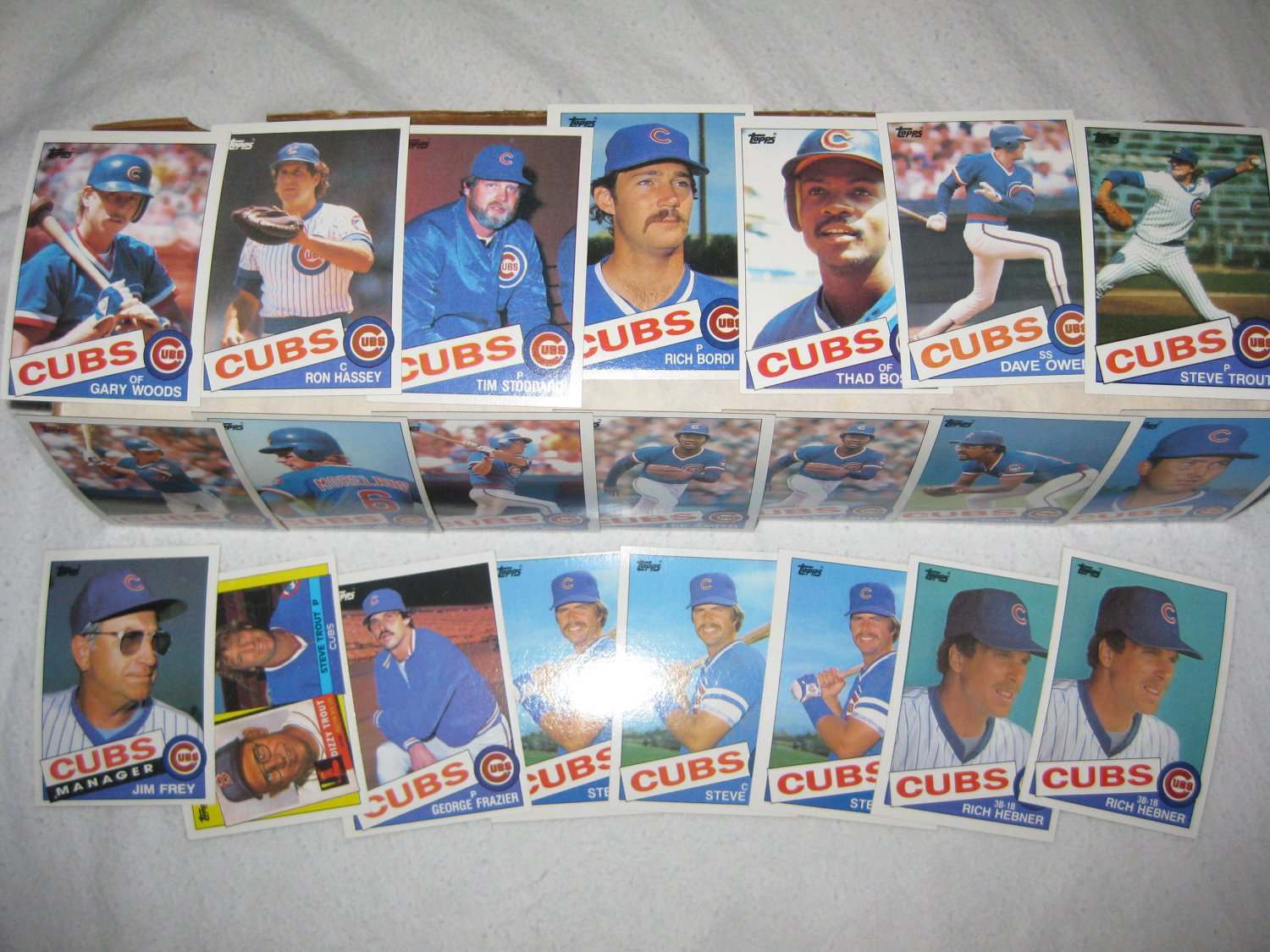 CHICAGO CUBS 1985 TOPPS BASEBALL CARDS TEAM LOT FREE SHIPPING !!!
