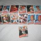 CINCINNATI REDS 1985 TOPPS BASEBALL CARDS TEAM LOT  FREE SHIPPING !!!