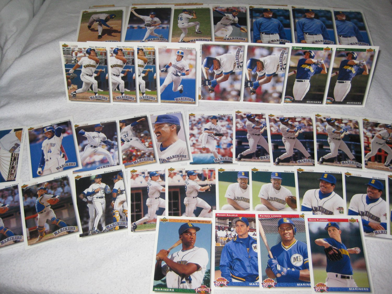 SEATTLE MARINERS 1992 UPPER DECK BASEBALL CARDS TEAM LOT FREE SHIPPING!!