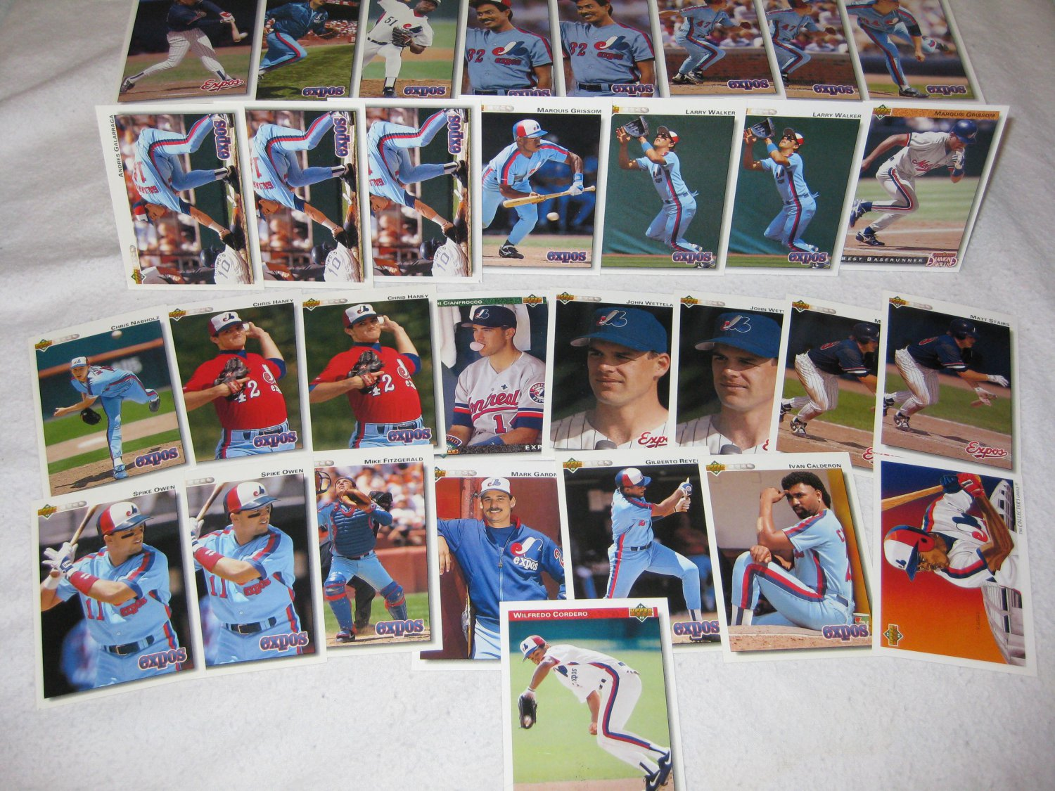 MONTREAL EXPOS 1992 UPPER DECK BASEBALL CARDS TEAM LOT FREE SHIPPING !!!
