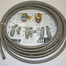 STAINLESS STEEL BRAID PROPANE HIGH PRESSURE HOSE 20 FT.