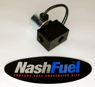 HIGH FLOW 12 VOLT GASOLINE LOCK OFF VALVE LOCKOFF AIR 12V 150PSI PRESSURE GAS