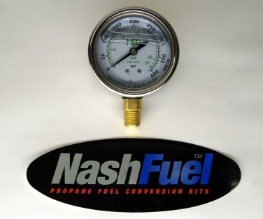 MARSHALL EXCELSIOR HIGH PRESSURE GAUGE DIAL 0-400 PSI PROPANE AIR NPT COMPRESSOR