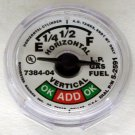 5714S02591 MANCHESTER 7384-04 5-2591 SNAP IN PROPANE SIGHT GAUGE DIAL FUEL LEVEL