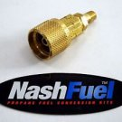 """FULL FLOW BRASS 1-5/16"""" ACME QCC TO 1/4"""" NPT MALE BBQ GRILL PROPANE TANK ADAPTER"""