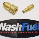 """PROPANE TANK QUICK CONNECT M.POL TO 1/4"""" NPT FAST CONNECTION LPG BBQ GRILL KIT"""
