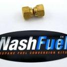 "Female to Female Swivel 3/8"" SAE Flare Propane Natural Gas LPG Adapter Brass 45°"