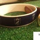 """BACK TO SCHOOL! Blue & Beige Ribbon Belt size 40"""""""