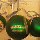 Green Princeton Academy Christmas Balls