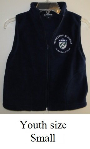 BACK TO SCHOOL! Youth Small Navy Fleece Vest