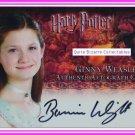 Harry Potter GoF Bonnie Wright Ginny Weasley Auto