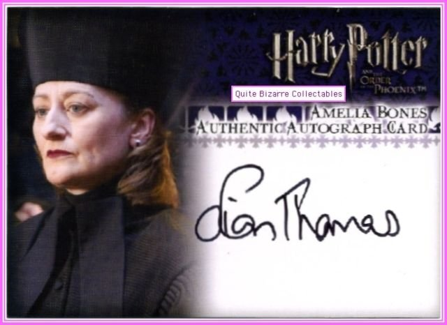 Harry Potter the Order of the Phoenix OP OotP Sian Thomas Amelia Bones Auto Card