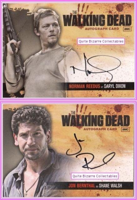 The Walking Dead Auto Card A2 A18 Shane Walsh Daryl Dixon Jon Bernthal Reedus